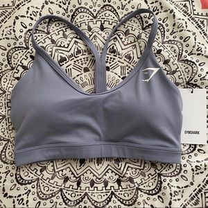 Gymshark V Neck Training Sports Bra Light Blue